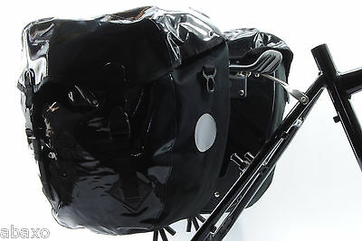 Waterproof Bicycle Tour Rear Panniers,Bike Touring Bags,Heavy Duty,Black,Large