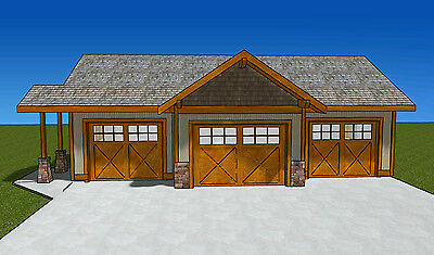 Garage Plans Blueprints 16 Ft X 24ft Salt Box