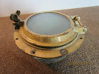 Maritime, Salvaged, Solid Brass Boat Porthole