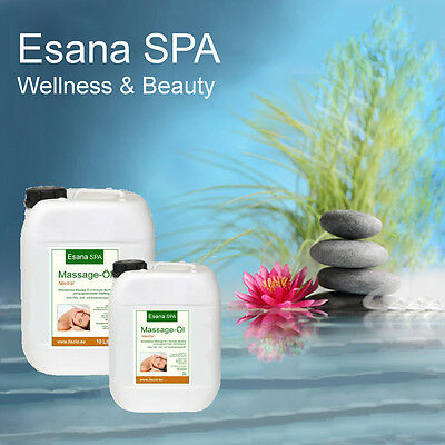 Massageöl neutral   Esana SPA   1 Liter  5 Liter  10 Liter  20 Liter  30 Liter