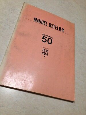 Manuel d' atelier Honda PA50 PS50 PA PS 50 édition 1968 workshop service manual