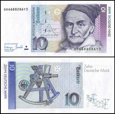 Germany Federal Republic 10 Mark Banknote, 1993, P-38c, UNC