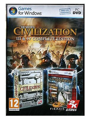 Sid Meier's Civilization III & IV (Complete Edition) PC Game - Video Game