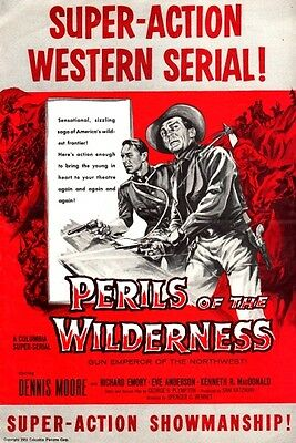 PERILS OF THE WILDERNESS pressbook, Dennis Moore, Richard Emory, Eve Anderson