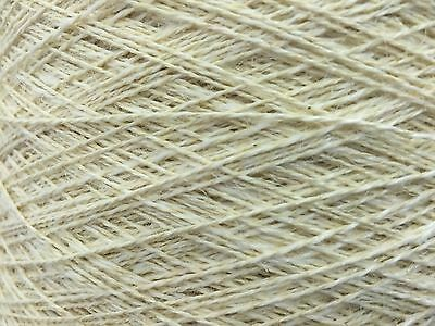 QUALITY YARN CONE 2 PLY 56% / 44% LINEN / COTTON BLEACHED COLOUR 1000g 20 BALLS