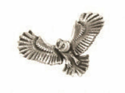 A.E. Williams Fine Brittish Pewter Lapel Hat Pin Owl In Flight Insect #35040