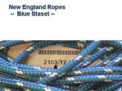 "3/8"" Sta-set Rope, per- ft, New England Ropes Blue Staset, 2103-12,"