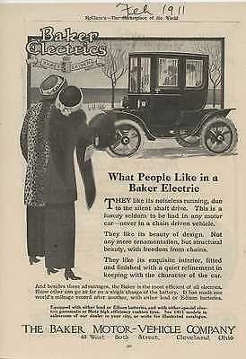 1911 Baker Electric Car Cleveland OH Auto Ad Western Electric Co ma4946