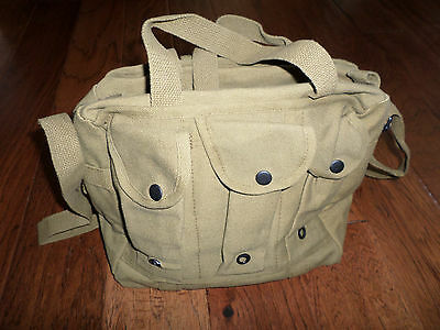 Od Green Canvas Shooters Bag W/ Six Magazine Compartments Shoulder Strap