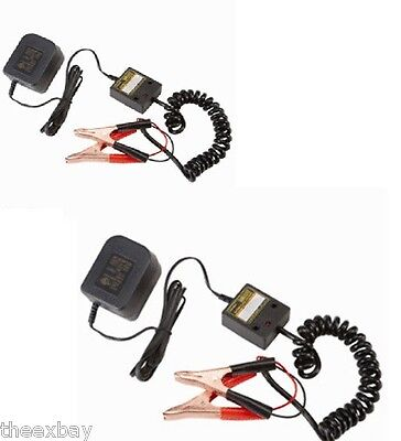 TWO Automatic 12 Volt Battery Float Trickle Charger Car Auto Truck 12v Tender