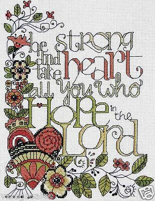 """Design Works Counted Cross Stitch Kit 10"""" x 10"""" ~ BE STRONG #2795 Sale"""