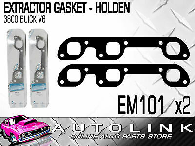 EXTRACTOR GASKET SUIT HOLDEN COMMODORE VN VP VR 3.8lt BUICK V6 (x2)