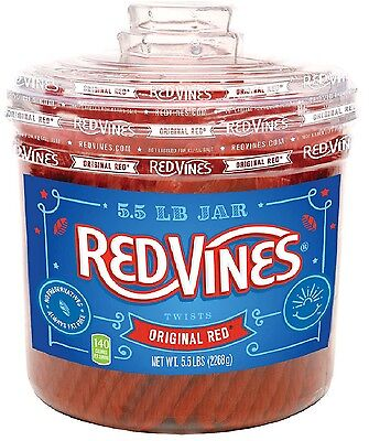 Red Vines Original Red Licorice 5.5 lbs. Original Red Licorice RDV 827495 New