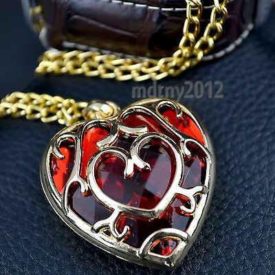 For The Legend of Zelda Skyward Sword Heart Container Necklace Pendant Anime