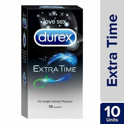 Durex Extended Pleasure Extra Time Intense Lubricant Sex Delay Bulk 10 Condoms