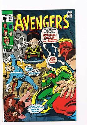 Avengers # 86  Brain-Child ! grade 7.5 Movie super scarce hot book !!
