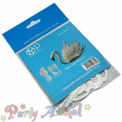 Orchard Products -SWAN Cutter Set- Floral Flower Sugar Craft Cake Decorating