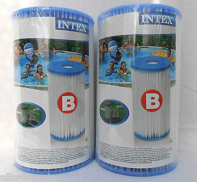 Intex Type B Pool Filter TWIN PACK.29005 59905. Also replacement for Type 4 / IV
