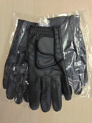 Job lot 50 JL black Golf plain all weather synthetic gloves Size small