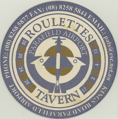 Coaster: Roulettes Tavern, Parafield Airport.