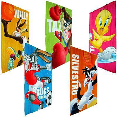 Looney Tunes Toons ACME Handtuch Kinder Coyote Bugs Bunny Silvester Tweety Taz