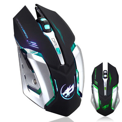 Wiederaufladbar USB LED Backlit Maus Optisch Wireless Gaming Mouse Pro PC Gamer