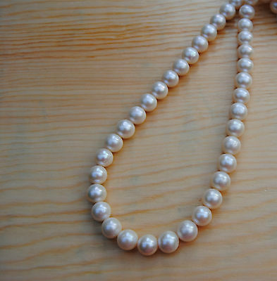 11-12MM Ivory  White Round  Big  Freshwater Pearls AAA One Strand 15.8'' 40CM