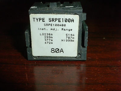Ge Spectra Rms Accessory Srpe100A80 80  Amp Trip Unit