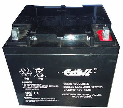 Casil CA12240 12v 40ah Wheelchair Battery Replaces 44ah Interstate BSL1161