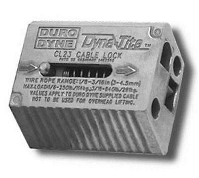 """Duro Dyne CL23 Dyna-Tite Cable Lock for 1/8"""" - 3/16"""" Wire Rope 30350 *FREE SHIP*"""