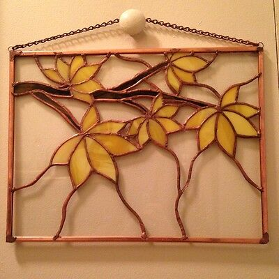 Stained Glass Autumn Tree Suncatcher