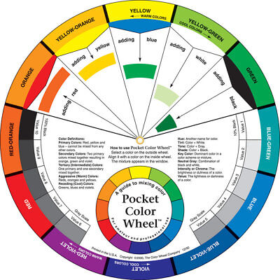 Pocket Color Wheel by The Color Wheel Co. Artist Paint Mixing Guide