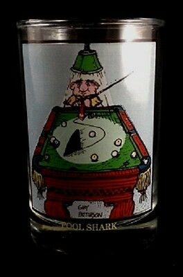 ARBY'S 1982 GARY PATTERSON Pool Shark Glass Collection Series