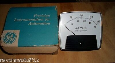 Ge Panel Meter 0-50 /200 Ac Volts  (New In Box)
