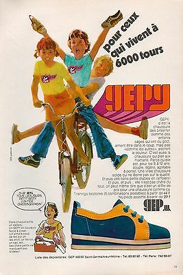 ▬► Publicite Advertising Ad Chaussures Gepy