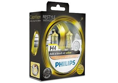 PHILIPS H4/9003/HB2 P43T ColorVision yellow +60% 55W 12V 12342CVPYS2 (2 bulbs)