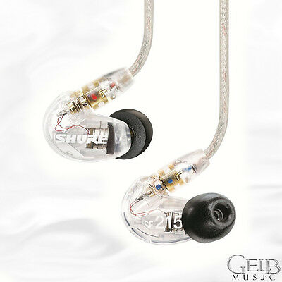 Shure SE215 Sound-Isolating In-Ear Stereo Earphones, Clear - SE215CL