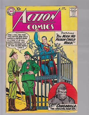 Action Comics # 248  The Man no Prison Could Hold !  grade 4.0 Silver Age DC