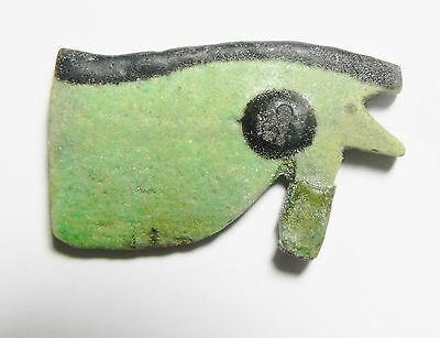 Zurqieh - Ancient Egyptian Large Eye Of Horus Amulet, 600 - 300 B.c