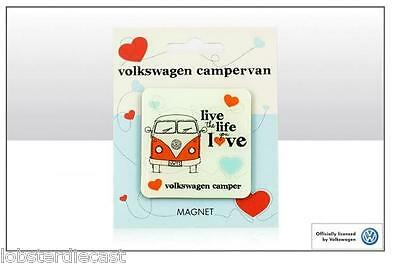 VW 'Live The Life You Love' Campervan Epoxy Magnet - VW Licensed Product