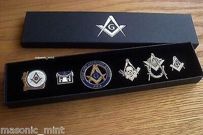 MASONIC PIN BADGE COLLECTION ( CHOOSE FROM 3 SETS OF 6x BADGES ), LAPEL PIN GIFT