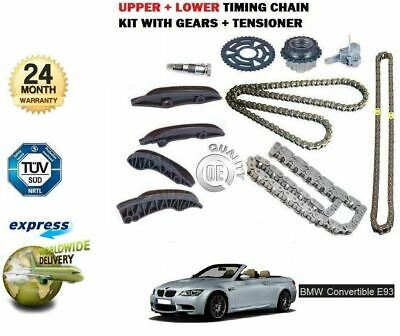 For Bmw E93 Cabrio 320D 330D 2007-> Upper + Lower Timing Chain Kit Set