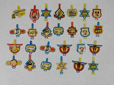 Post Cereal Lot 26 Roy Rogers Post's Raisin Bran Badges