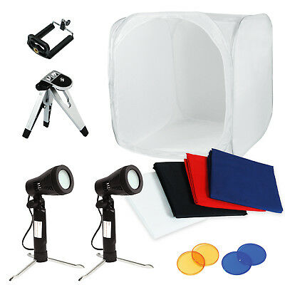 "Lusana Studio 24"" Photo Studio Photography Light Tent Backdrop Kit 24inch"