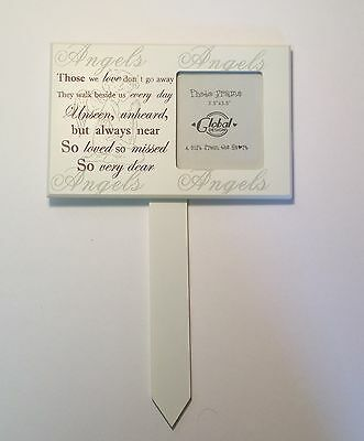 Those We Love Grave Stake Stick With Photo Tribute Plaque Funeral Memorial F0954