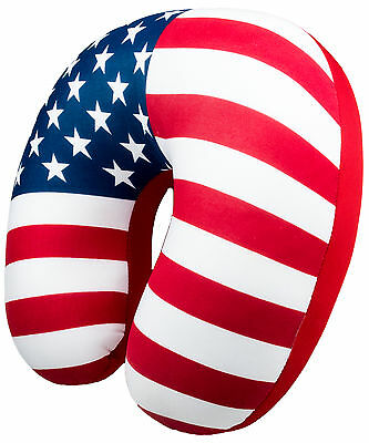 U.S. Flag Design Microbead Neck Travel Pillow