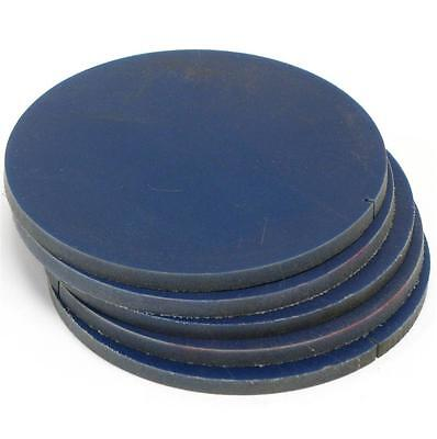 """.276"""", 7mm THICK, HIGH DENSITY PLASTIC DISK PLATE 5-5/16"""" DIAMETER CIRCLE FLOATS"""