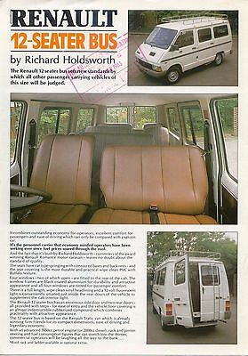 Renault Trafic 12 Seater Bus By Holdsworth original UK Brochure 1982