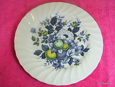 "Myott Ironstone (Claremont - Blue) 9 7/8"" LUNCHEON PLATE(s)  (10 avail)"