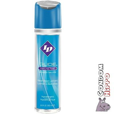 ID GLIDE 250ml / 8.5oz Personal Sex Lube DISCREET FAST POST Water Based